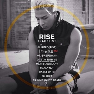 taeyang rise tracklist